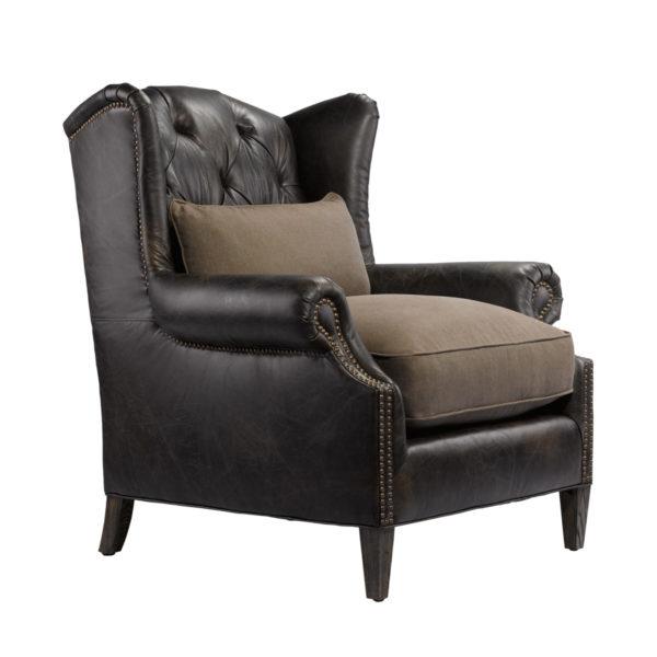 Кожаное кресло LAURAN ARMCHAIR-1568