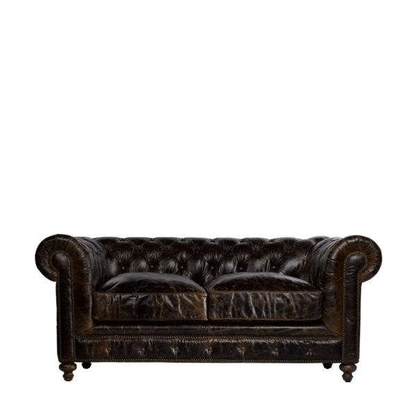 """Кожаный диван 77"""" CIGAR CLUB LEATHER SOFA-0"""