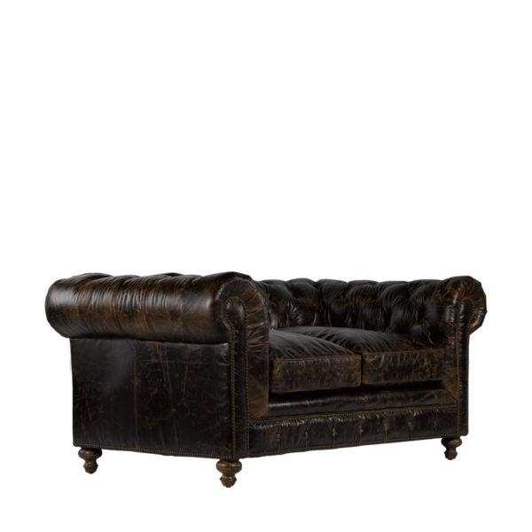"""Кожаный диван 77"""" CIGAR CLUB LEATHER SOFA-1929"""