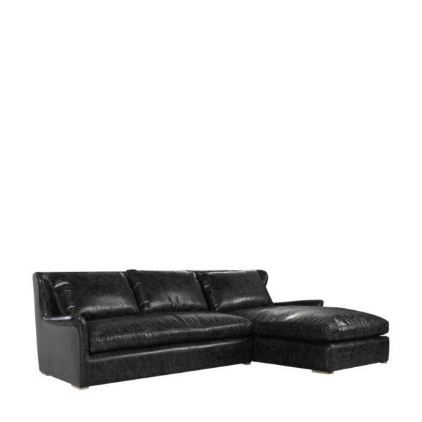 Изысканный диван WINSLOW LEATHER & WOOL SECTIONAL-431