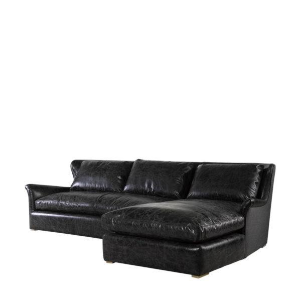 Изысканный диван WINSLOW LEATHER & WOOL SECTIONAL-432