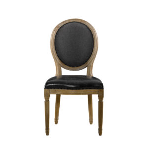 Стул VINTAGE LOUIS SLATE ROUND SIDE CHAIR-0