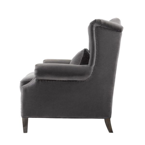 Lauran Velvet Arm Chair-2180