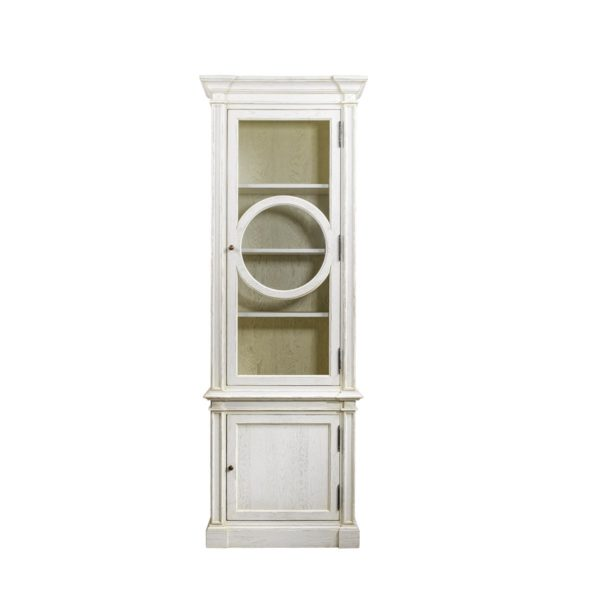 Шкаф French O-Style Vintage White Cabinet-0