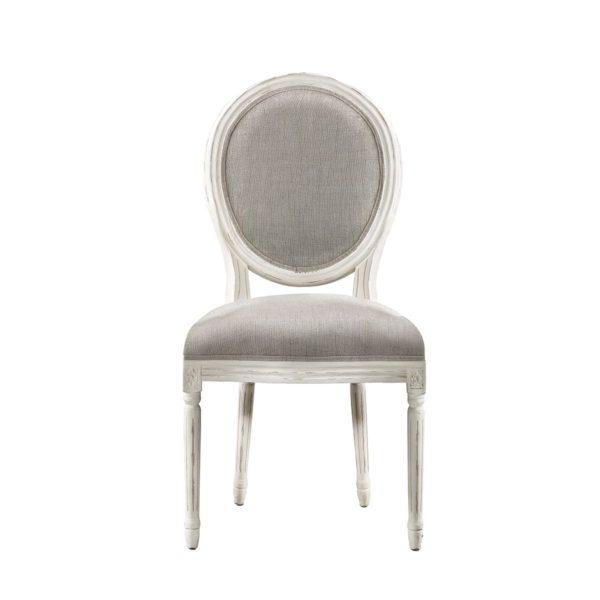 Стул Vintage Louis Round Vintage White Side Chair-0
