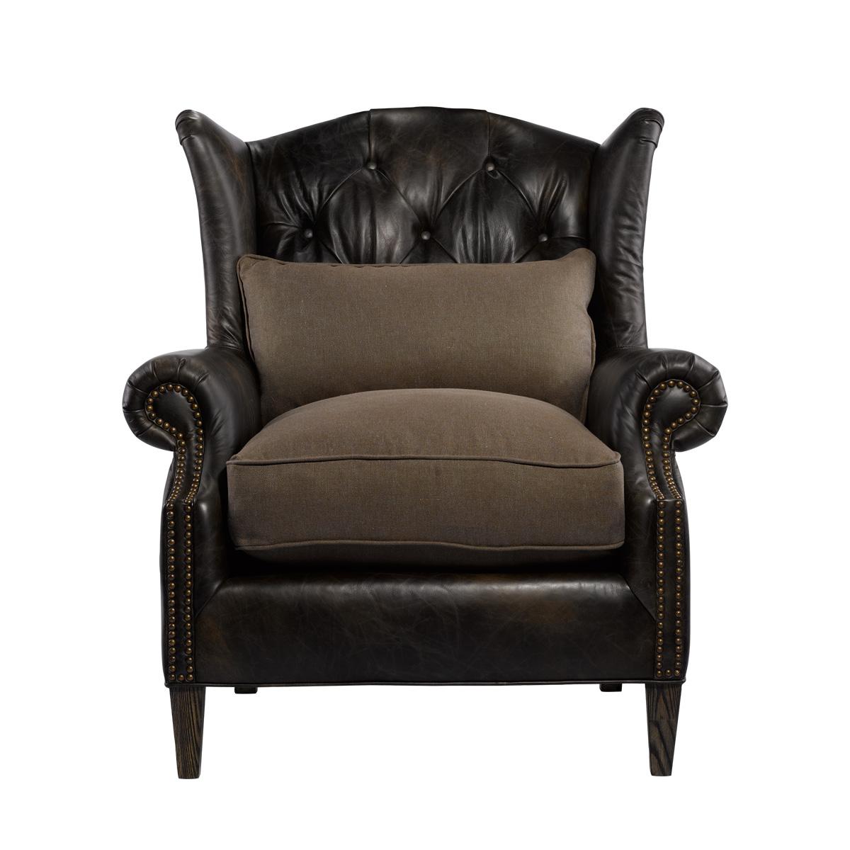 Кожаное кресло LAURAN ARMCHAIR-0