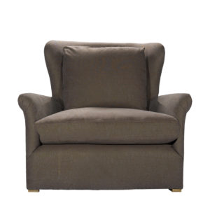 Кресло WINSLOW LOUNGE CHAIR BROWN LINEN-0