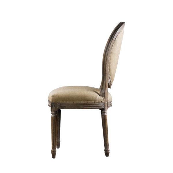 Стул VINTAGE LOUIS ROUND BUTTON SIDE CHAIR-1642