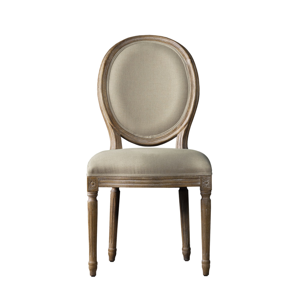 Винтажный стул VINTAGE LOUIS ROUND SIDE CHAIR-0