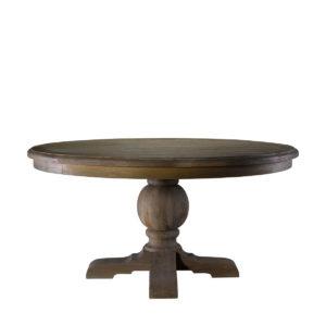 """Стол 60"""" ROUND TRESTLE TABLE-0"""