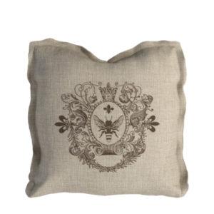 Logo Pillow Beige Linen-0