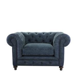 Джинсовое кресло Cigar Club DENIM Chair-0