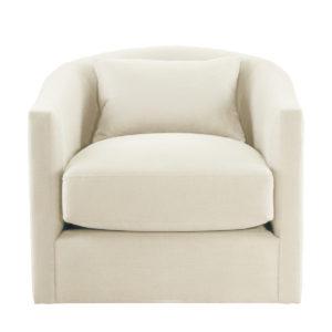 Кресло белое Auburn Swivel Chair-0