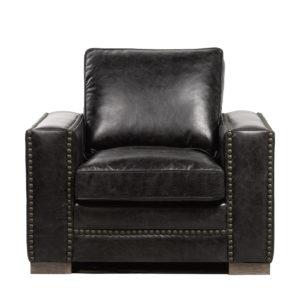 Кожаное кресло Bleeker Arm Chair-0