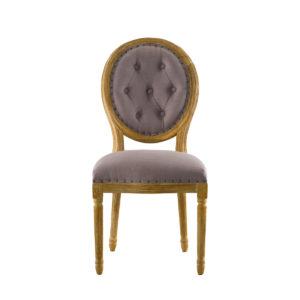 Vintage Louis Button Side Chair-0