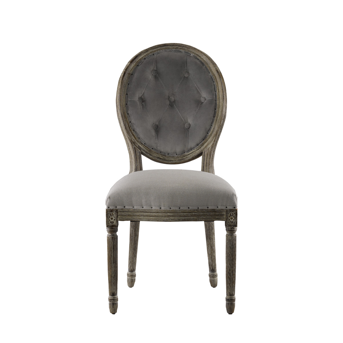 Стол Vintage Louis Button Side Chair-0