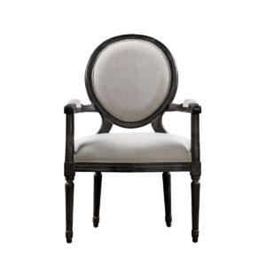 Винтажный стул VINTAGE LOUIS ANTIQUE BLACK ARM CHAIR-0