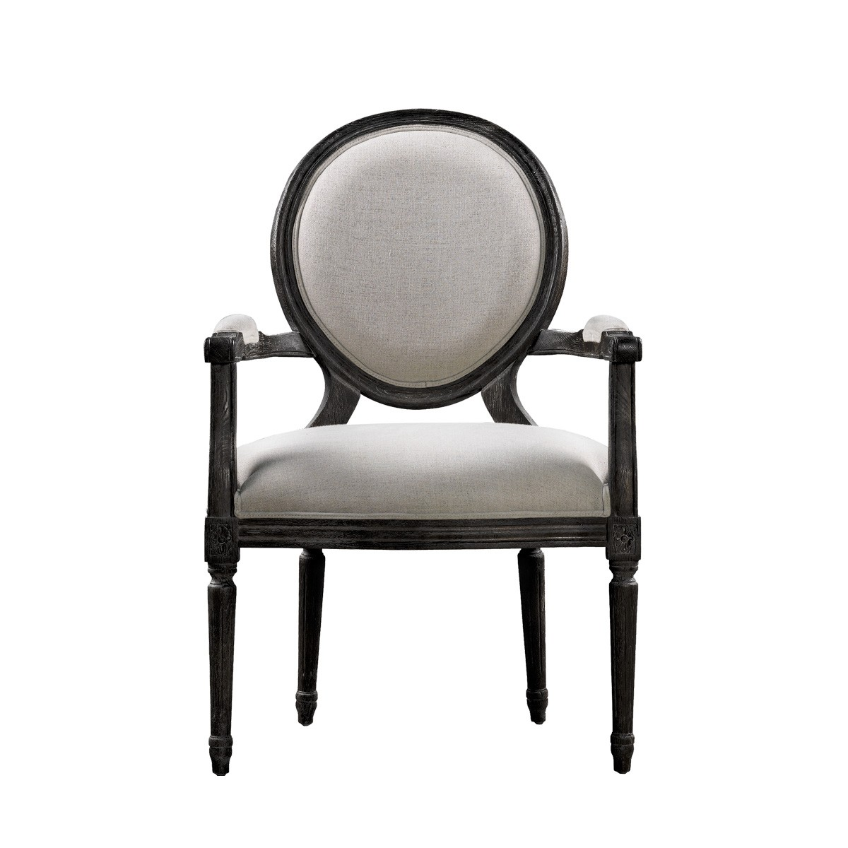 Винтажный стул VINTAGE LOUIS ANTIQUE BLACK ARM CHAIR-0