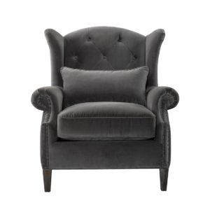 Lauran Velvet Arm Chair-0