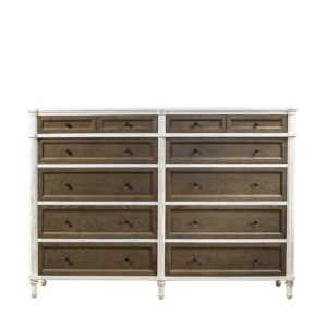 Комод Alden Vintage White Double Drawers-0
