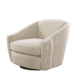Кресло Bell Linen Swivel Arm Chair-0
