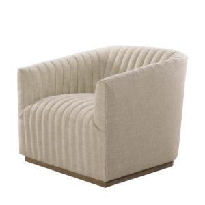 Кресло Sete Strip Linen Swivel Arm Chair-0
