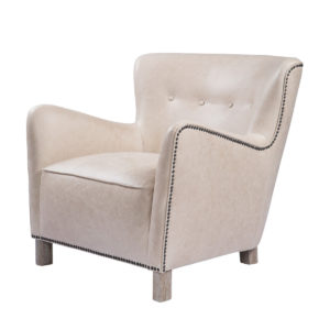 Кресло SAVONA LEATHER ARM CHAIR-0
