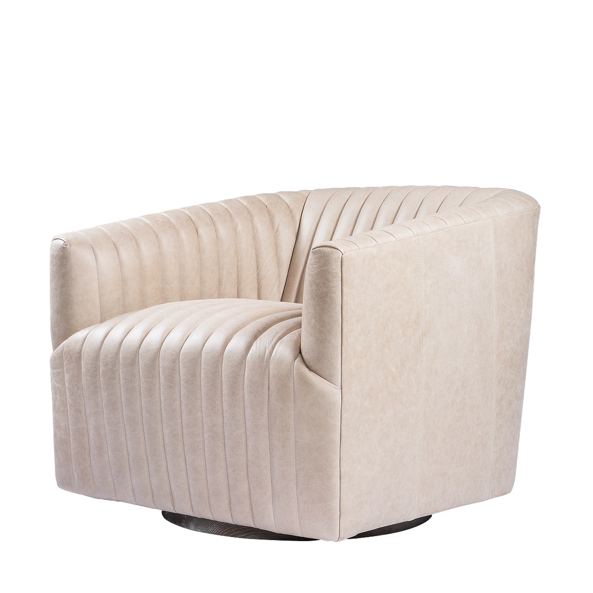 Кресло SETE STRIP LEATHER SWIVEL ARM CHAIR-0